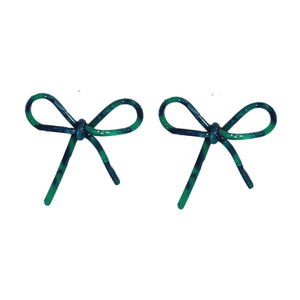St Armands Green Bow Earrings