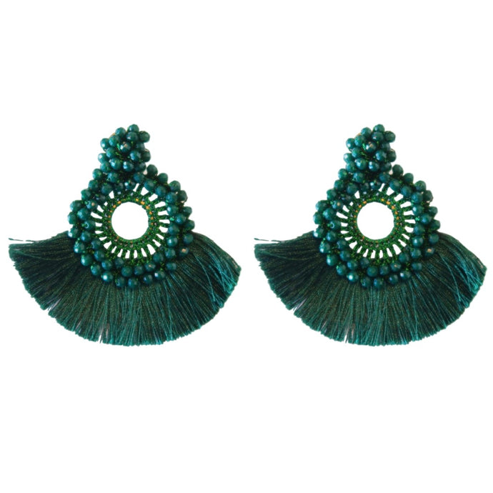 Holiday Fan Tassels - Forest Green