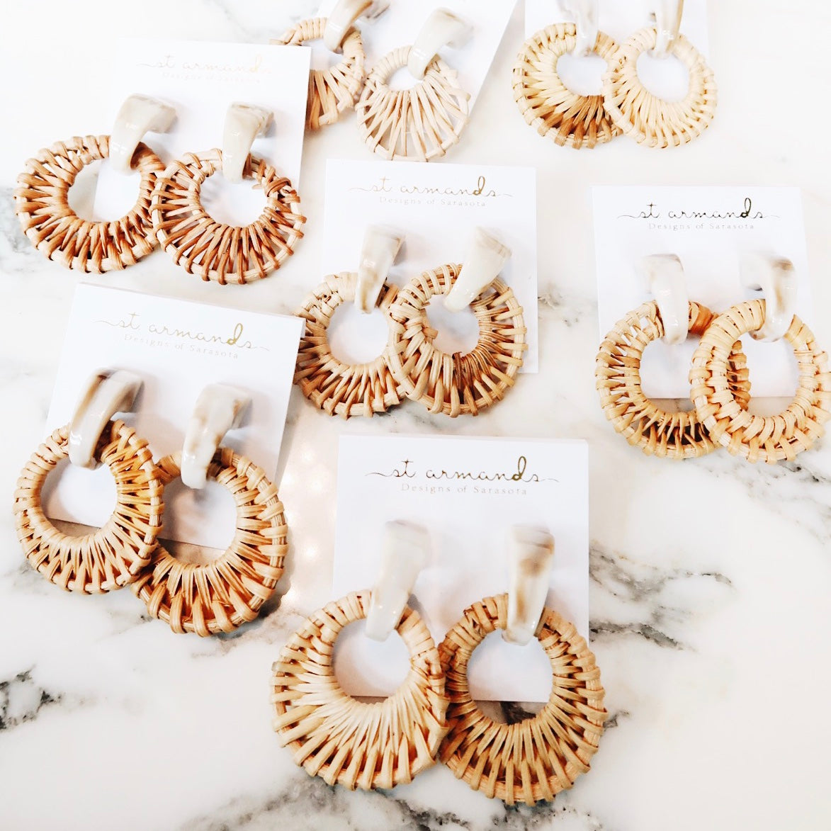 St Armands Designs Rattan Earrings