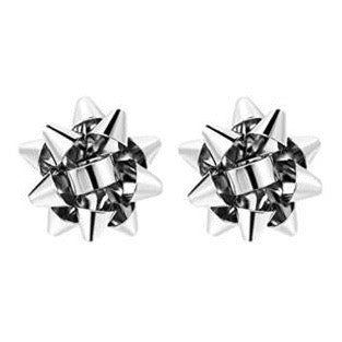 Present Bows Silver - St Armands Earrings