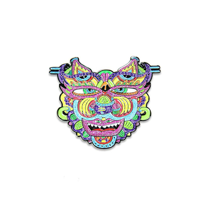 Chris Dyer Warrior Glitter Pin - Positive Creations