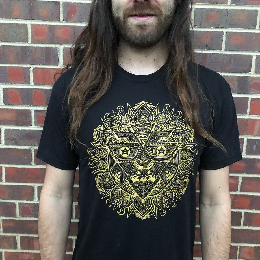 Gold Robo Sun T-Shirts - Positive Creations