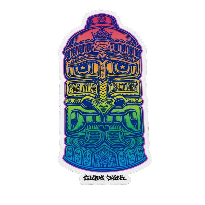 Rainbow Tribal Spray Can Sticker - Positive Creations
