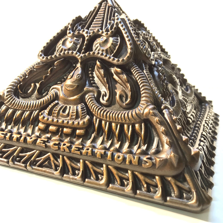 Limited Edition Bronze Pyramid Sculpture - Positive Creations