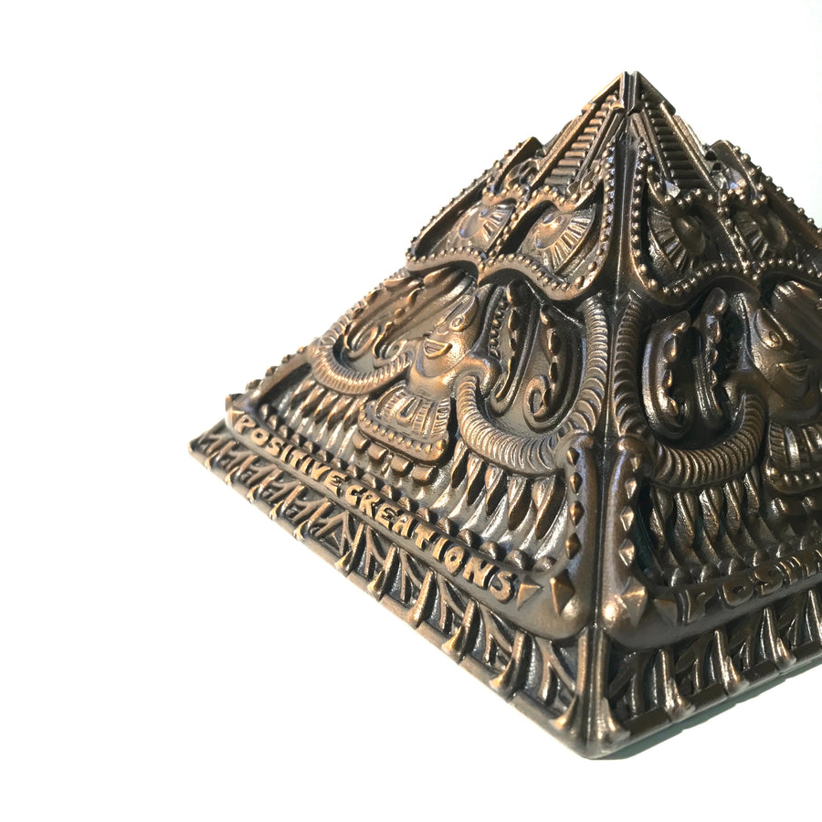Limited Edition Bronze Pyramid Sculpture