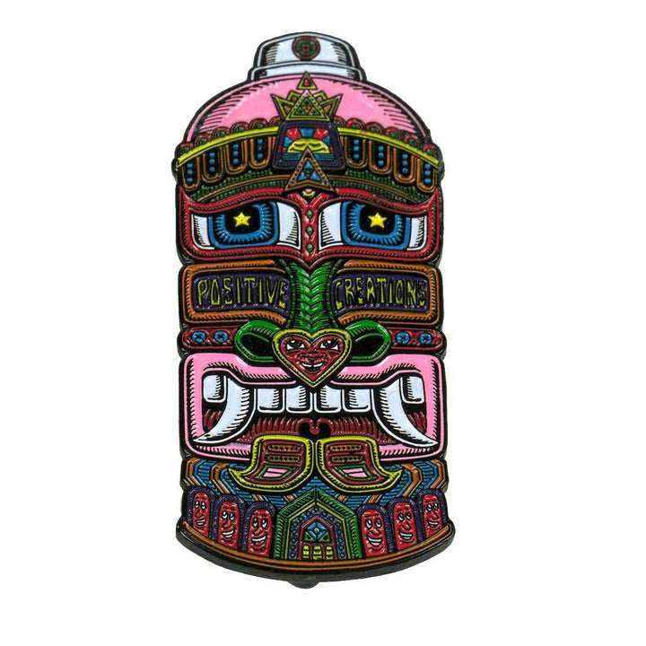 Pink Tribal Spray Can Pin