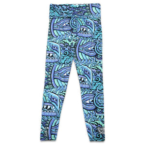 Rainbow Serpent Blue Chris Dyer X Grassroots Leggings