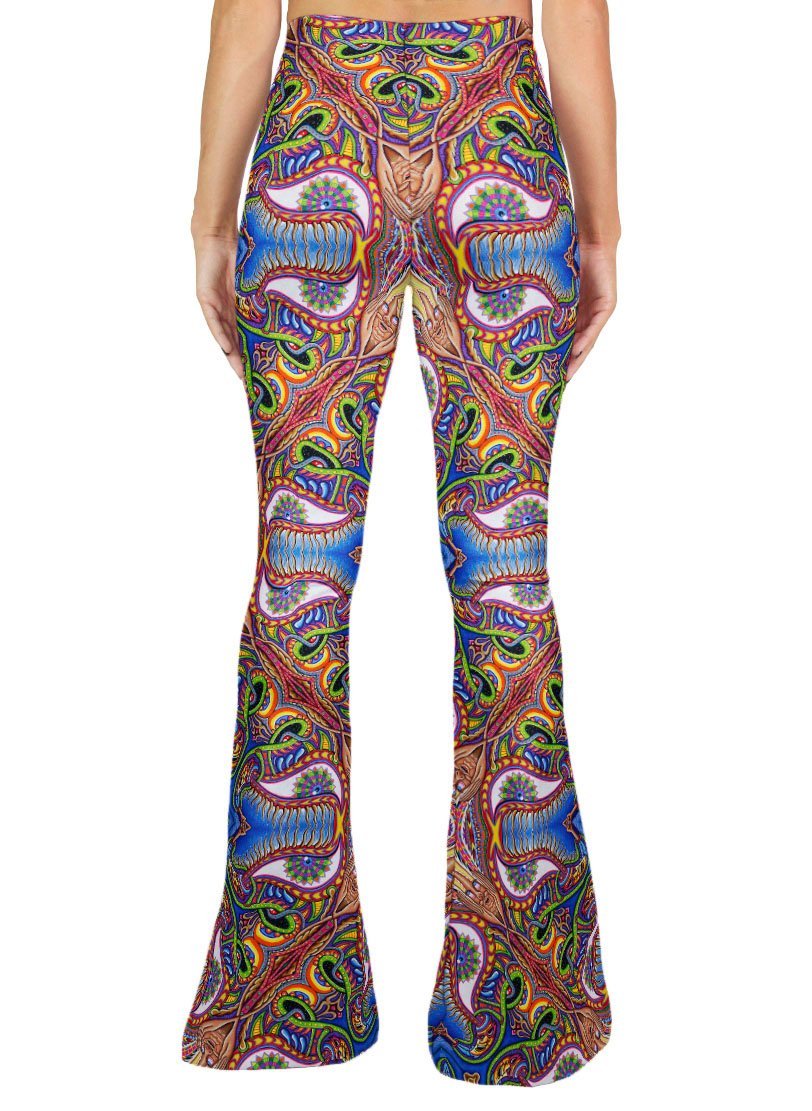 APOTHEOSIS OF DUALITREE PATTERN BELL BOTTOMS