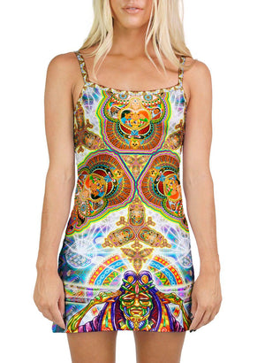 HEALING FRACTAL DIMENSION MINI DRESS - Positive Creations