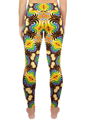 PEELING BODIES PATTERN ACTIVE LEGGINGS