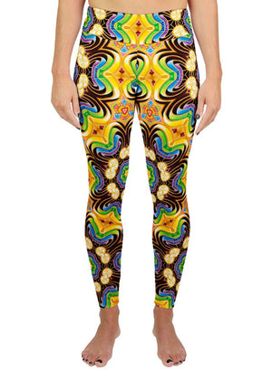 PEELING BODIES PATTERN ACTIVE LEGGINGS - Positive Creations