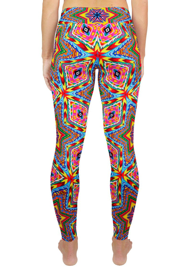 APOTHEOSIS OF DUALITREE PATTERN ACTIVE LEGGINGS - Positive Creations