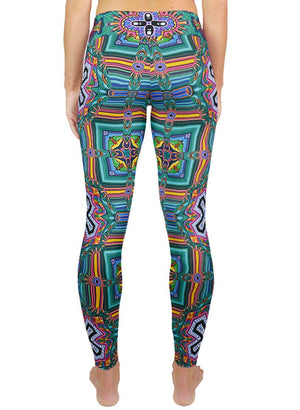 BRIBRIBRI PATTERN ACTIVE LEGGINGS - Positive Creations
