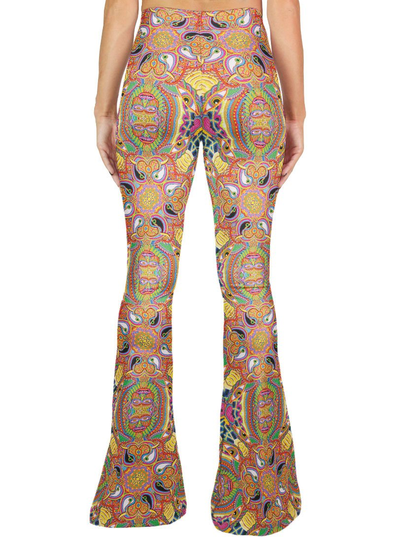 NEO HUMAN EVOLUTION PATTERN BELL BOTTOMS - Positive Creations