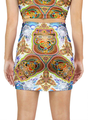 HEALING FRACTAL DIMENSION MINI SKIRT