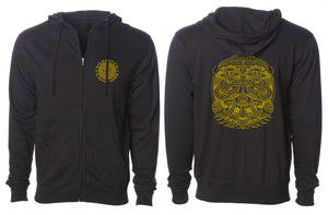 Eye Alien Gold Premium Hoodie - Positive Creations