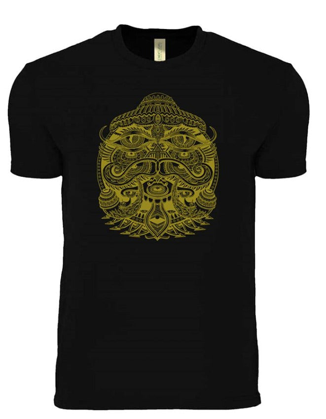 Eye Alien Gold PREMIUM COTTON T-SHIRT - Positive Creations