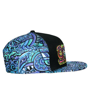 Rainbow Serpent Blue Chris Dyer X Grass Roots Snap Back Hat - Positive Creations