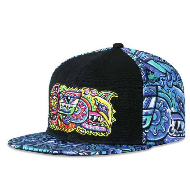 Rainbow Serpent Blue Chris Dyer X Grass Roots Snap Back Hat