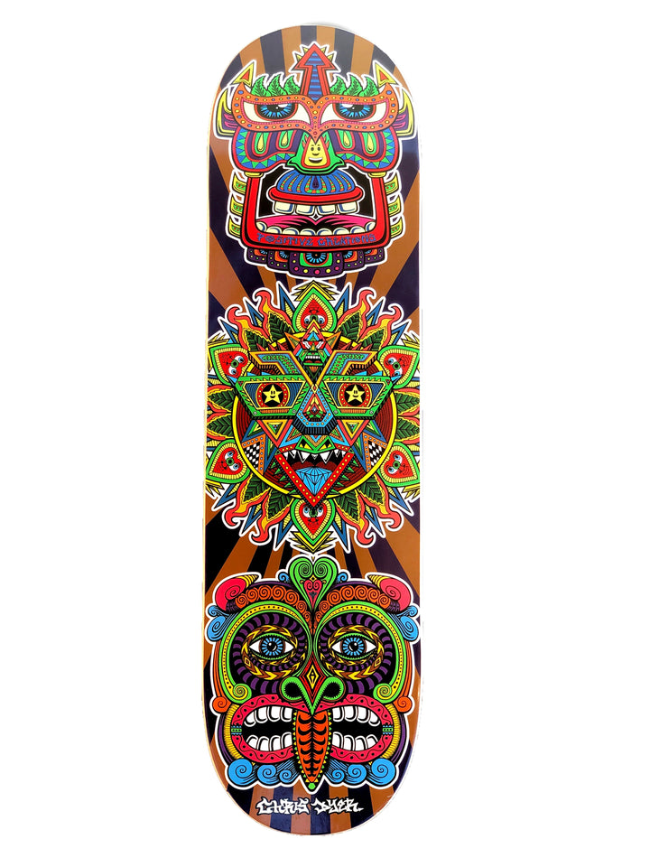 Positive Creations Masks Skateboard Deck - Positive Creations