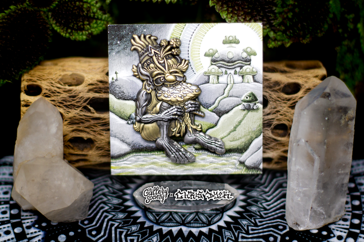 The Muncher of Mushroomland Sacred Armor Pin - Positive Creations