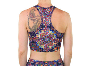 Optimystics Journey Pattern Racerback Crop - Positive Creations