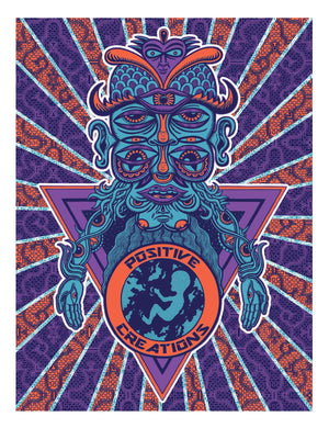 World Alien Silkscreen Poster - Positive Creations