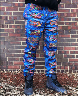 Fish bomb blue Joggers - Positive Creations