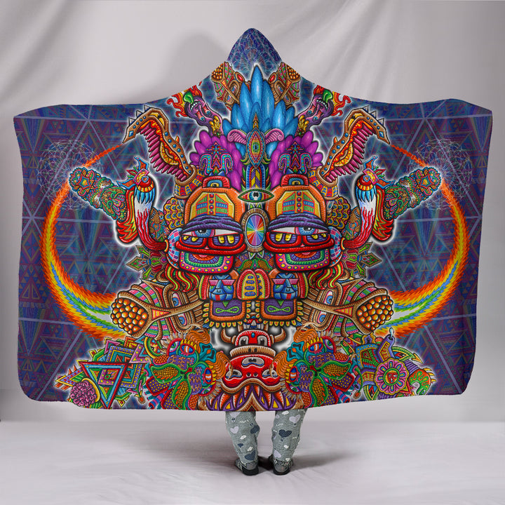Interdimensional Rebel Hooded Blanket