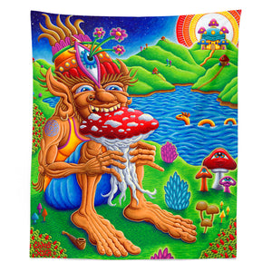 Muncher of Mushroomland Tapestry - Positive Creations