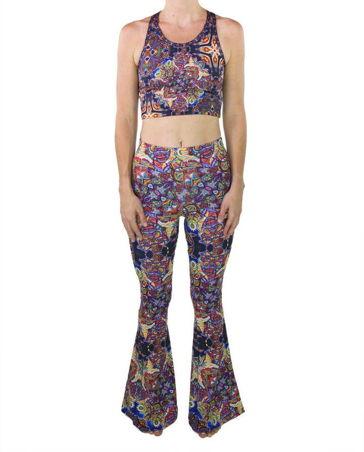 Optimystics Journey Pattern Bell Bottoms