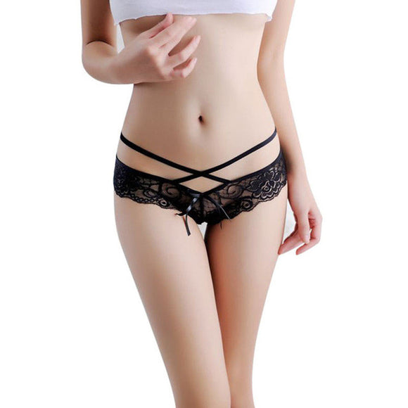 Hot sale Women Sexy Lace Panties Briefs Transparent Lingerie Knickers Panty V String thong tangas Underwear bragas mujer 7 color