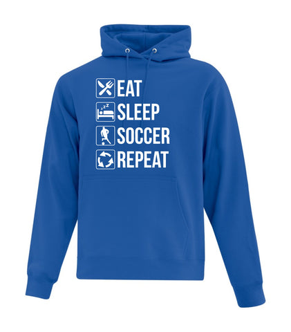 Eat, Sleep, Soccer, Repeat Hoodie (Adult Sizes)