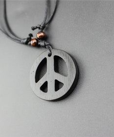 Spirit of Peace™ - Vintage Wood Hand Made Peace Necklace