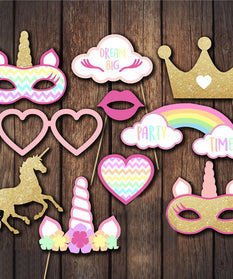 Unicorn Props For Birthday Party