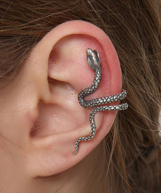 Silver Snake Earring - No Need For Piercing