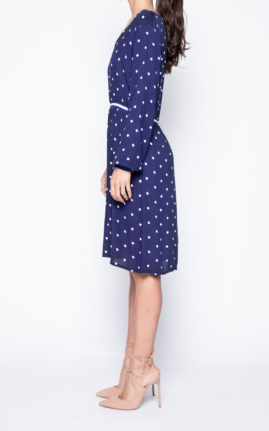 Elizabeth Polka Dot V-Neck Dress