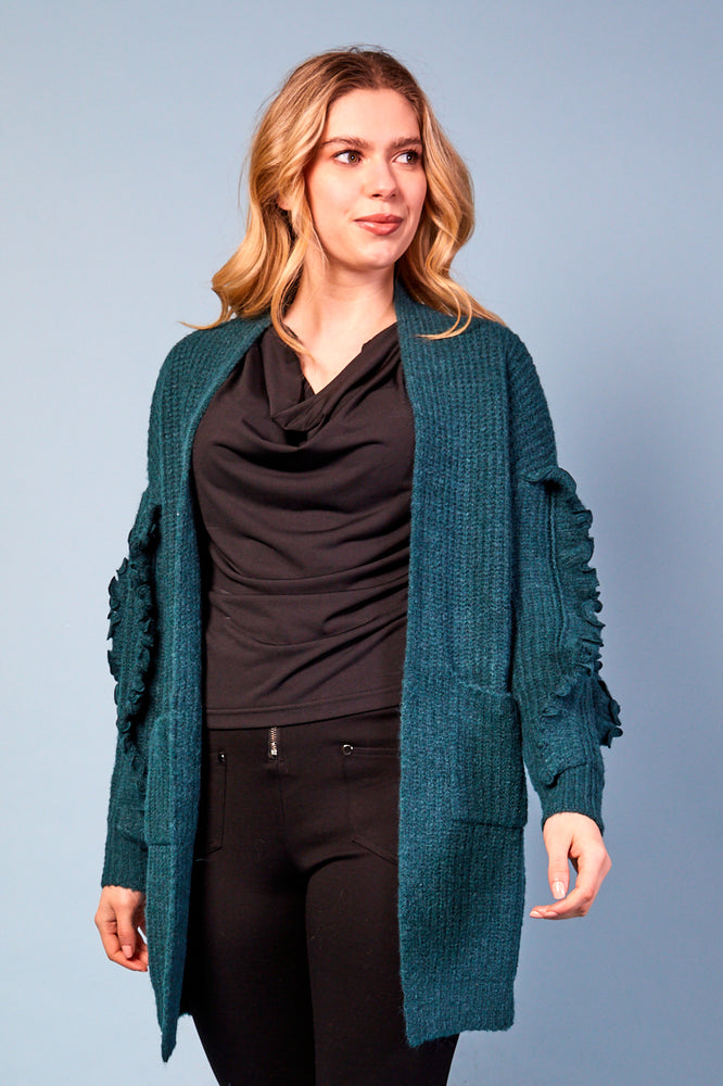 Valentina Cardigan with pockets - Green