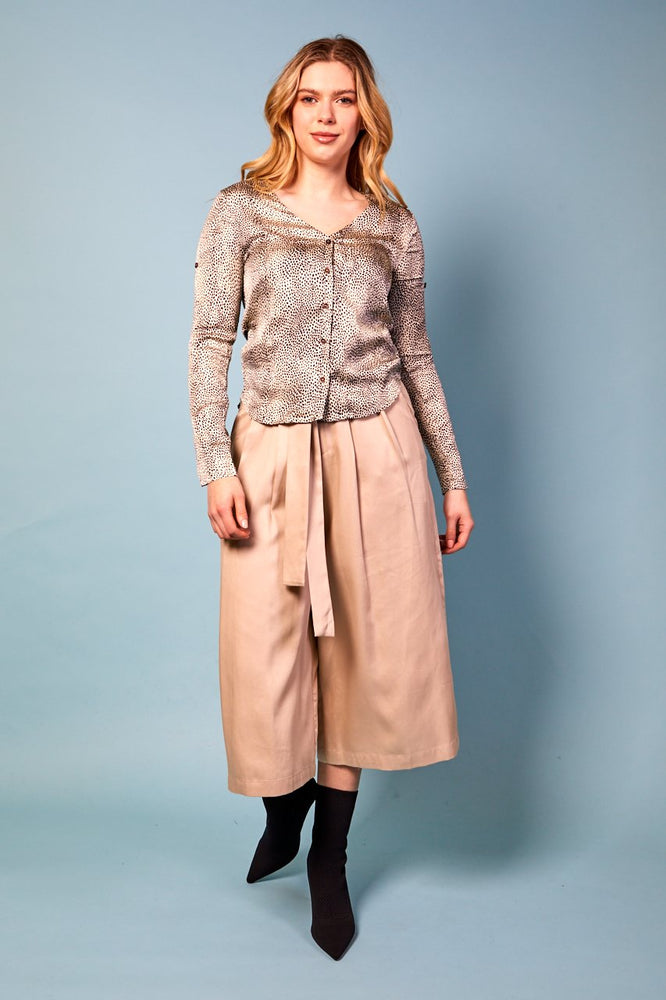 Ava Wide Leg Cropped Pants