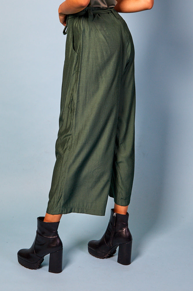 Laura Belted Pants - Green