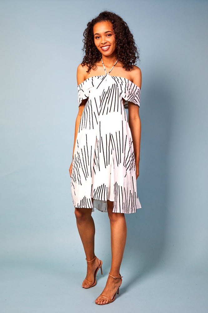 Elisa Halter-Neck Printed Dress