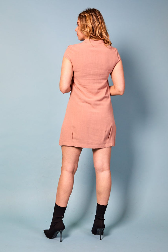 Megan Lace-Up Dress