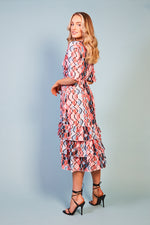 Zelmira Ruffle End Print Dress