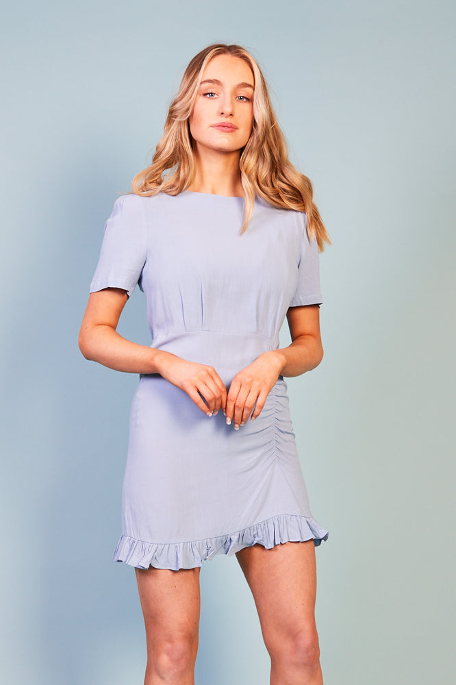 Micola Ruffle Hem Short Sleeve Dress