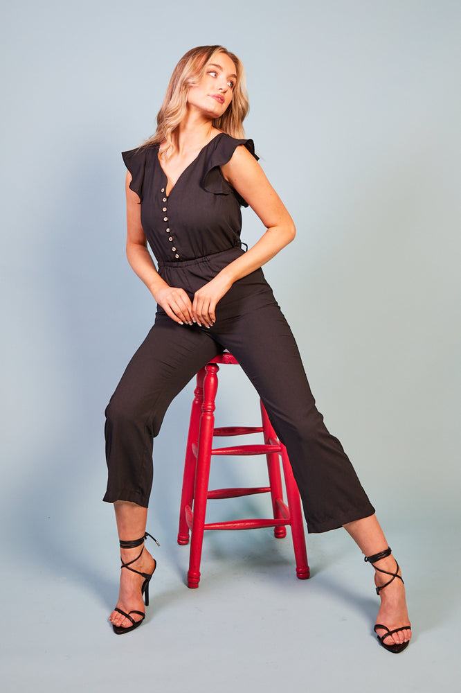 Jacobella Button Front Jumpsuit