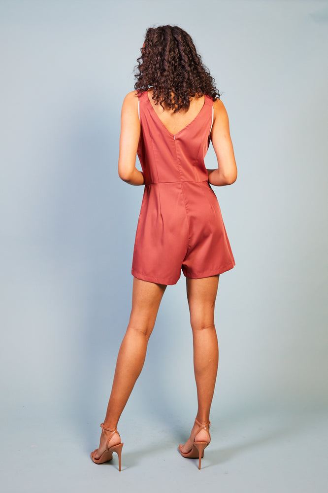 Iseppa Pipping Detail Playsuit