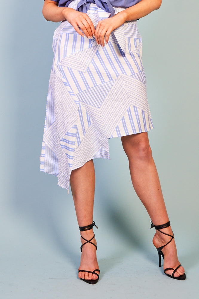 Electra High Low Stripe Skirt