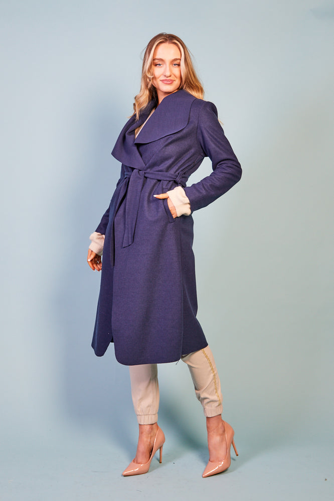 Alessa Coat - Navy
