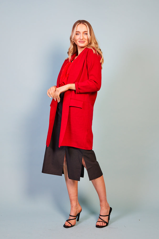 Mimi Red Coat Cardigan