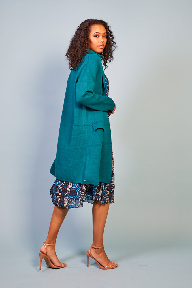 Mimi  Green Coat cardigan